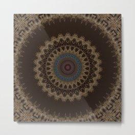 Sequential Baseline Mandala 26 Metal Print