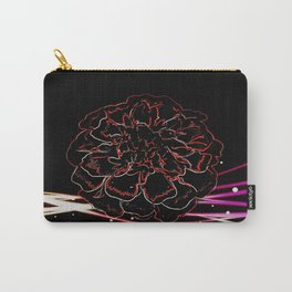 Floral Electrons Carry-All Pouch
