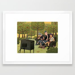 T.V. Party Framed Art Print