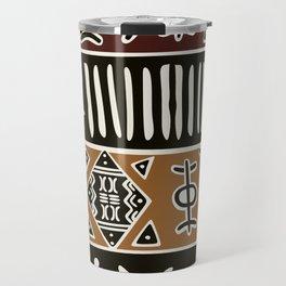 African mud cloth with elephants Travel Mug