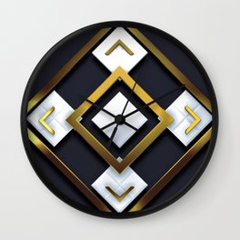 Light Dark and Gold 01 Wall Clock