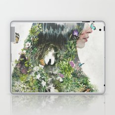 Cat in the Garden of Your Mind Laptop & iPad Skin