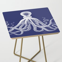 Octopus | Navy Blue and White Side Table