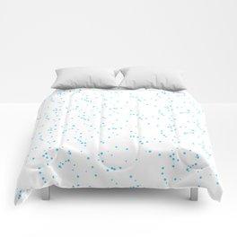 Blue White Shambolic Bubbles Comforters