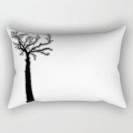 Black & White Tree's Rectangular Pillow