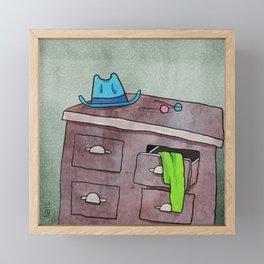 Clashing clothes Framed Mini Art Print