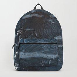 Dark slate gray colorful watercolor Backpack