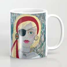 Mixed Media PIRATE GIRL Coffee Mug