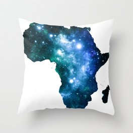 Africa Universe Blue Green Throw Pillow
