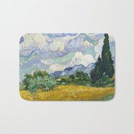 Van Gogh, Wheat Field with Cypresses, 1889 Bath Mat