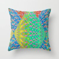 diamonds Throw Pillows featuring Diamonds by elikourY