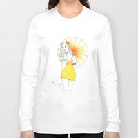 pin up Long Sleeve T-shirts featuring Pin-Up  by Susana Carvalhinhos