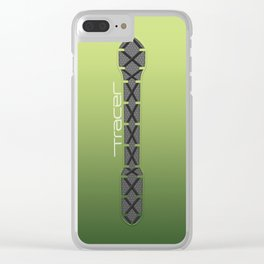 Tracer Neon Green Cosplay Leggings Clear iPhone Case
