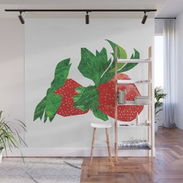 Strawberries Wall Mural