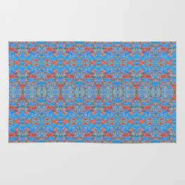 Deep Style Digital Pattern and Butterfly 06 Rug