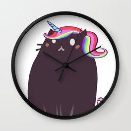 Cat Unicorn Wall Clock