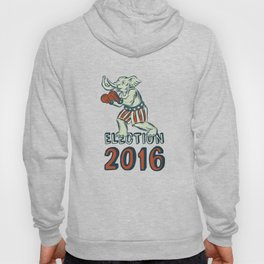 Election 2016 Republican Elephant Boxer Etching Hoody