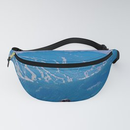 Dog Gone Climbing 2 // High above Copper Mountain Ski Resort in Colorado Landscape Photograph Fanny Pack
