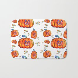 Pumpkin and Corn Candy Bath Mat