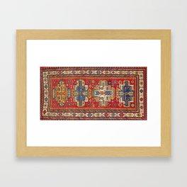 Daghestan Sumakh Northeast Caucasus Rug Print Framed Art Print