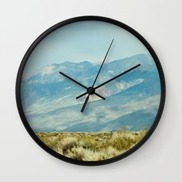 Mountains Above the Brushline (Sierra Nevadas, California) Wall Clock