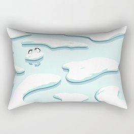Arguing Penguins Rectangular Pillow