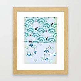 JAPANESE FAN PRINT Framed Art Print