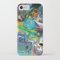 archan nair iPhone & iPod Cases featuring Microcrystalline Tendrils by Archan Nair