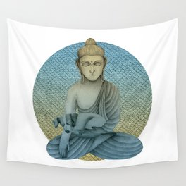Buddha with dog4 Wall Tapestry