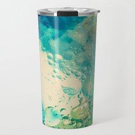 Retro Abstract Photography Underwater Bubble Design Travel Mug