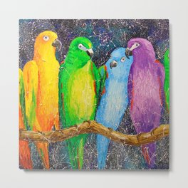 Parrots friends Metal Print