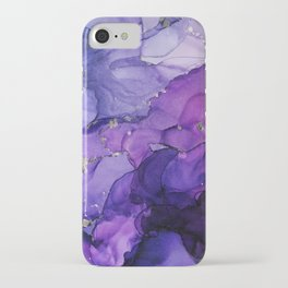 Violet Storm - Abstract Ink iPhone Case