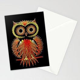 String Art Owl Stationery Cards