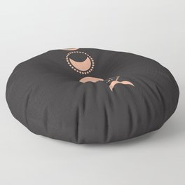 Moon phases on a dark night Floor Pillow