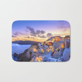 Santorini #society6 #decor #buyart Bath Mat