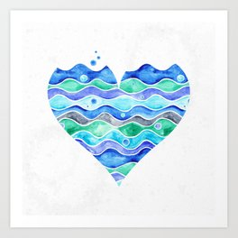 A Sea of Love (white) Art Print