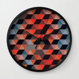 Textured Geometric Wall Clock