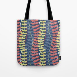 seagrass pattern - blue red yellow Tote Bag