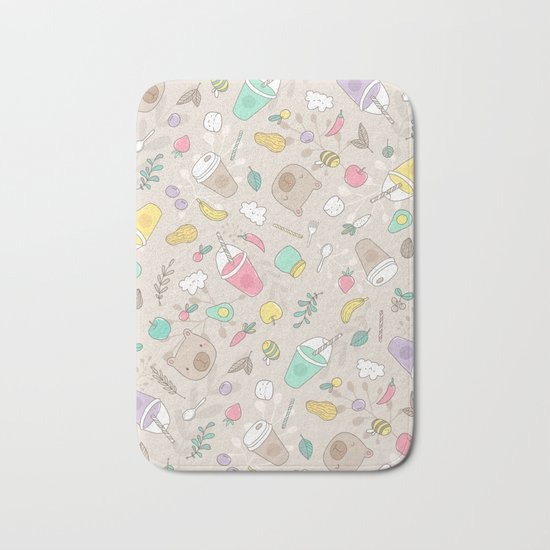 Bears and smoothie Bath Mat