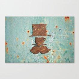 Rusty coffee shop sign Canvas Print
