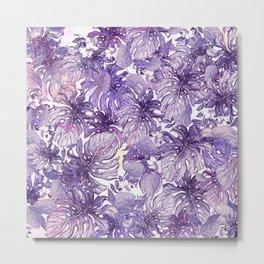 Tropical Foliage # Purple Metal Print