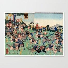 Battle of Kawanakajima Canvas Print