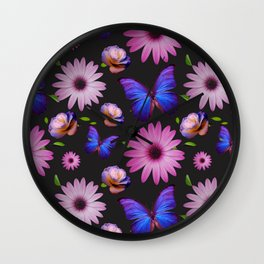 Spring invading the house with flowers Wall Clock