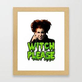 Witch Please, Love Winnie Framed Art Print