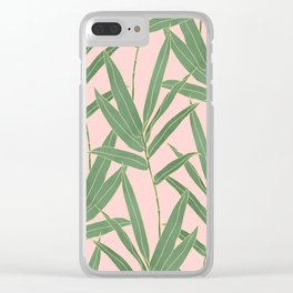 Elegant bamboo foliage design Clear iPhone Case