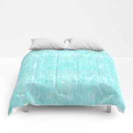 Abstract modern teal white watercolor brushstrokes pattern Comforters