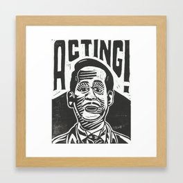 Master Thespian Framed Art Print