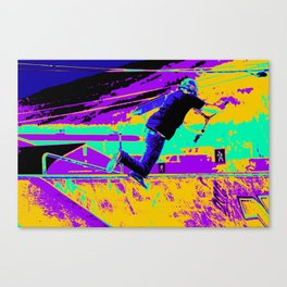 Tail Whip Tryout  - Stunt Scooter Canvas Print