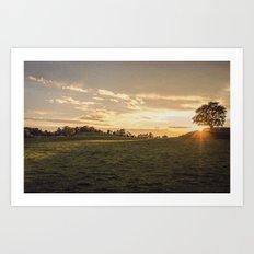 Sunset Landscape Art Print