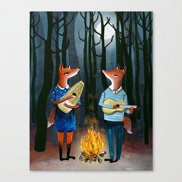 Eine Kleine Foxmusik - Fox Duet Canvas Print